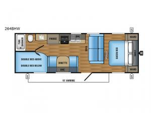 Jay Flight SLX 264BHW Floorplan Image
