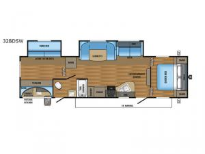 Jay Flight SLX 32BDSW Floorplan Image