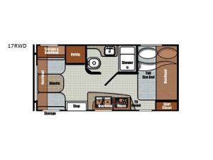 Vintage Friendship 17RWD Floorplan Image
