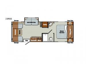 Vintage Friendship 23RSS Floorplan Image
