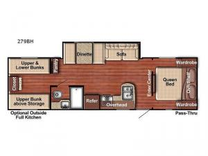 Friendship 279BH Floorplan Image