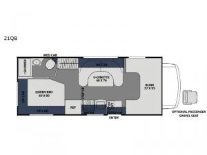 Freelander 21QB  Ford 350 Floorplan Image