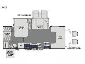 Freelander 24FS Chevy 4500 Floorplan Image