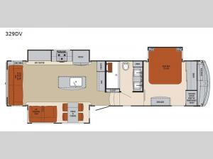 Columbus 1492 329DV Floorplan Image