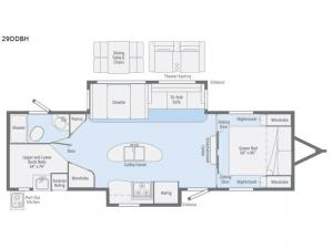 Minnie Plus 29DDBH Floorplan Image