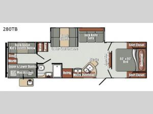 Streamlite Ultra Lite 280TB Floorplan Image