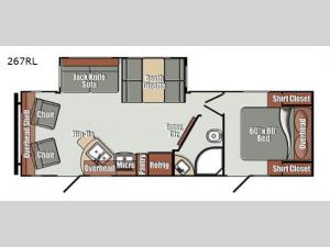 Streamlite Ultra Lite 267RL Floorplan Image