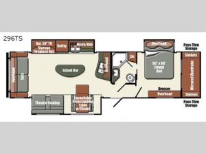 Streamlite Ultra Lite 296TS Floorplan Image