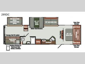 Gulf Breeze Ultra Lite 295DC Floorplan Image