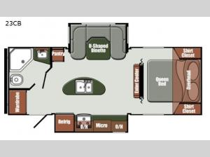 Gulf Breeze Ultra Lite 23CB Floorplan Image