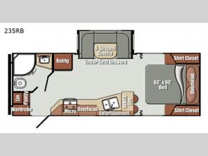 Gulf Breeze Ultra Lite 235RB Floorplan Image