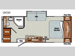 Vista Cruiser 19CSK Floorplan Image