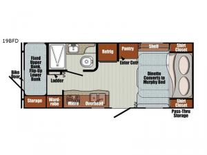 Vista Cruiser 19BFD Floorplan Image
