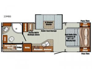 Vista Cruiser 23MBS Floorplan Image