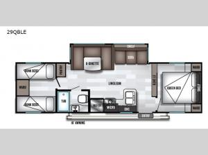 Salem 29QBLE Floorplan Image