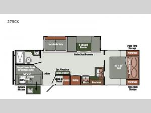 Gulf Breeze Ultra Lite 275CK Floorplan Image