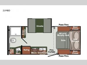 Gulf Breeze Ultra Lite 21MBD Floorplan Image