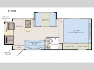 Adventurer 116DS Floorplan Image
