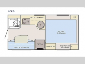 Adventurer 80RB Floorplan Image