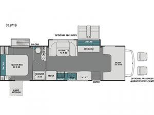 Leprechaun 319MB Ford 450 Floorplan Image