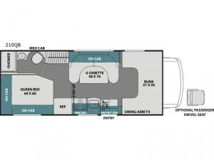 Leprechaun 210QB Ford 350 Floorplan Image
