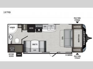 Passport 197RB SL Series Floorplan Image
