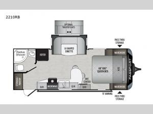 Passport 2210RB GT Series Floorplan Image