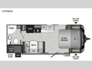 Passport 197RBWE SL Series Floorplan Image
