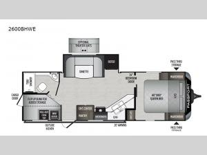 Passport 2600BHWE GT Series Floorplan Image