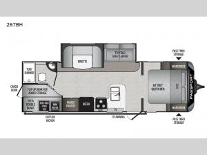 Passport 267BH SL Series Floorplan Image
