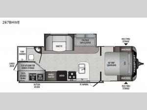 Passport 267BHWE SL Series Floorplan Image