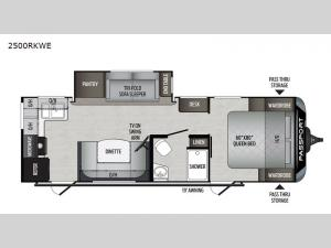 Passport 2500RKWE GT Series Floorplan Image
