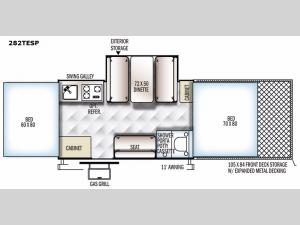 Rockwood Extreme Sports 282TESP Floorplan Image