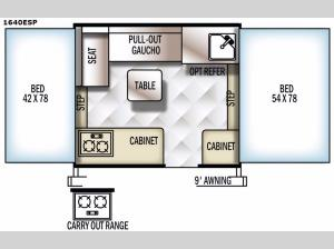 Rockwood Extreme Sports 1640ESP Floorplan Image