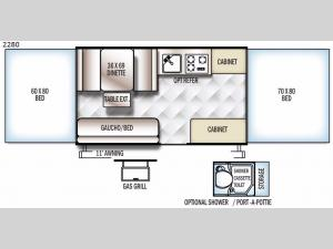 Rockwood Freedom Series 2280 Floorplan Image