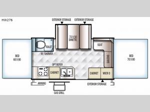 Rockwood High Wall Series HW276 Floorplan Image