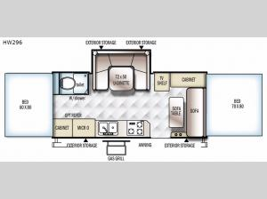 Rockwood High Wall Series HW296 Floorplan Image