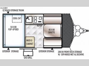 Rockwood Hard Side Series A122BH Floorplan Image
