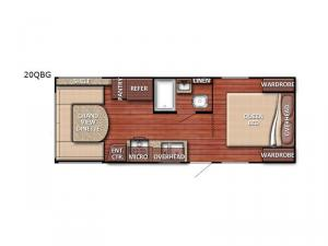 Kingsport 20 QBG SE Series Floorplan Image