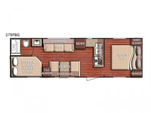 Kingsport 275 FBG SE Series Floorplan Image