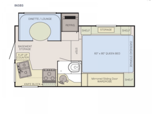 Adventurer 86SBS Floorplan Image