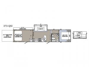 Puma Unleashed 373-QSI Floorplan Image
