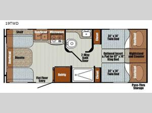 Vista Cruiser 19TWD Floorplan Image