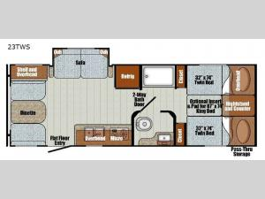 Vista Cruiser 23TWS Floorplan Image