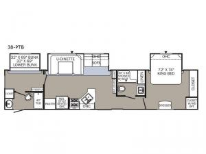 Puma Destination 38-PTB Floorplan Image