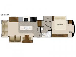 Elite Suites 36 RSSB3 Floorplan Image