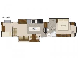 Mobile Suites 43 Atlanta Floorplan Image