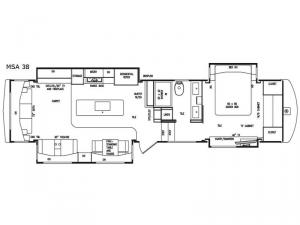 Mobile Suites Aire MSA 38 Floorplan Image