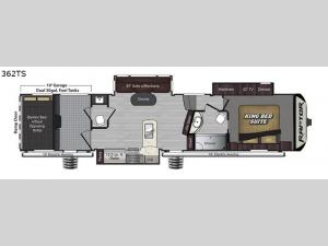 Raptor 362TS Floorplan Image