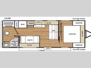 Catalina SBX 231RB Floorplan Image